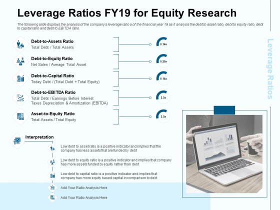 Fund Investment Advisory Statement Leverage Ratios FY19 For Equity Research Ppt Slides Format PDF
