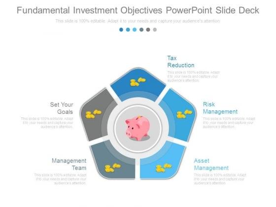 Fundamental Investment Objectives Powerpoint Slide Deck