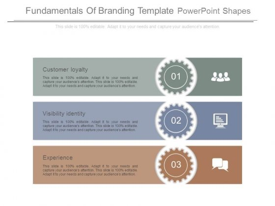 Fundamentals Of Branding Template Powerpoint Shapes