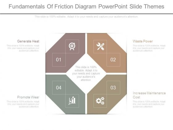 Fundamentals Of Friction Diagram Powerpoint Slide Themes