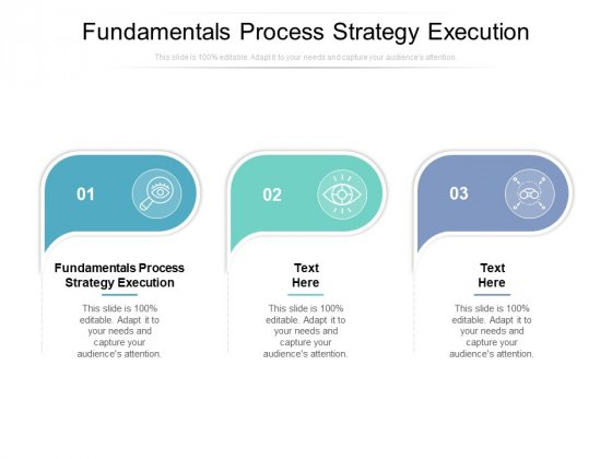 Fundamentals Process Strategy Execution Ppt PowerPoint Presentation Layouts Inspiration Cpb
