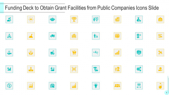 Funding Deck To Obtain Grant Facilities From Public Companies Icons Slide Introduction PDF