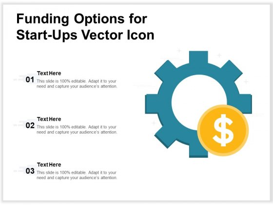 Funding Options For Start Ups Vector Icon Ppt PowerPoint Presentation Gallery Infographics PDF