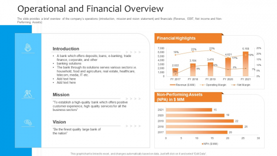 Funding_Pitch_To_Raise_Funds_From_PE_Operational_And_Financial_Overview_Mockup_PDF_Slide_1