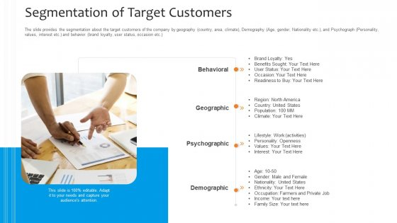 Funding Pitch To Raise Funds From PE Segmentation Of Target Customers Microsoft PDF