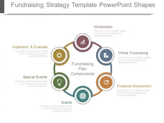 Fundraising Strategy Template Powerpoint Shapes  Powerpoint Templates