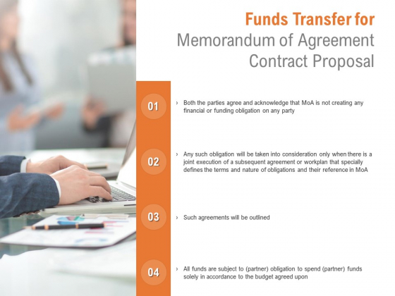 Funds Transfer For Memorandum Of Agreement Contract Proposal Ppt PowerPoint Presentation Icon Gridlines