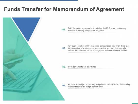 Funds Transfer For Memorandum Of Agreement Ppt PowerPoint Presentation Layouts Background Images