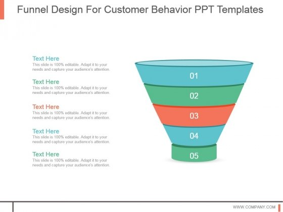 Funnel Design For Customer Behavior Ppt Templates