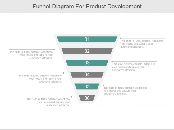 Funnel Diagram For Product Development Ppt PowerPoint Presentation Design Ideas
