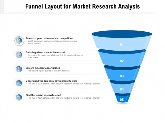 Funnel Layout For Market Research Analysis Ppt PowerPoint Presentation Inspiration Shapes PDF