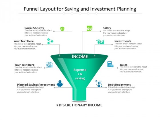 Funnel_Layout_For_Saving_And_Investment_Planning_Ppt_PowerPoint_Presentation_Gallery_Diagrams_PDF_Slide_1