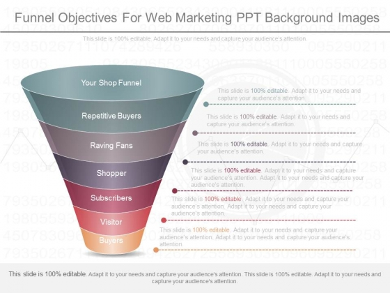 Funnel Objectives For Web Marketing Ppt Background Images