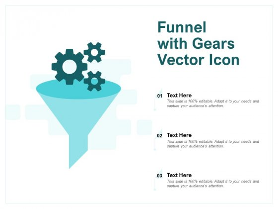 Funnel With Gears Vector Icon Ppt PowerPoint Presentation Inspiration Layouts
