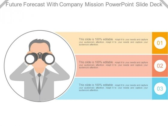 Future Forecast With Company Mission Powerpoint Slide Deck