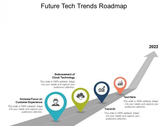 Future Tech Trends Roadmap Ppt PowerPoint Presentation Show Template