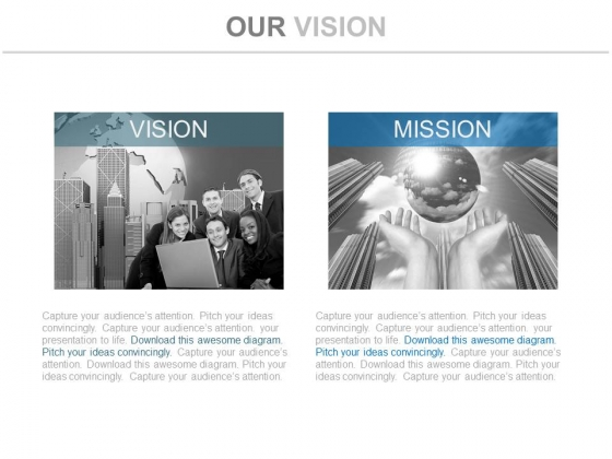 Future Vision And Mission Corporate Layout Powerpoint Slides