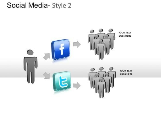 Facebook Twitter Friends PowerPoint Slides And Ppt Diagram Templates