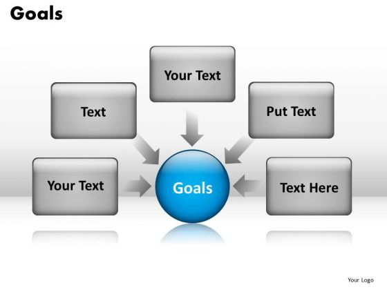 Factors Leading To Business Goals Text Boxes PowerPoint Templates Ppt Slides