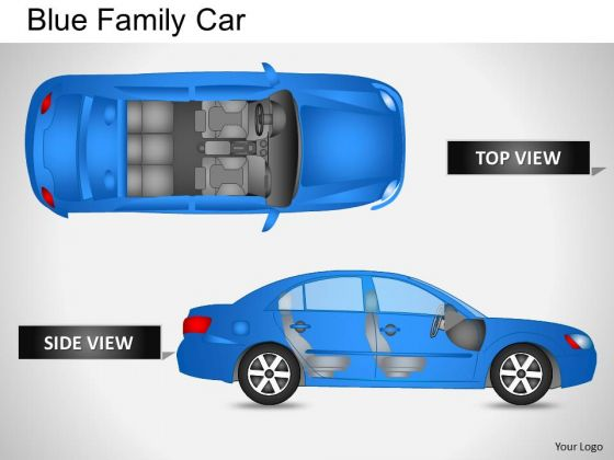 Family Blue Family Car PowerPoint Slides And Ppt Diagram Templates