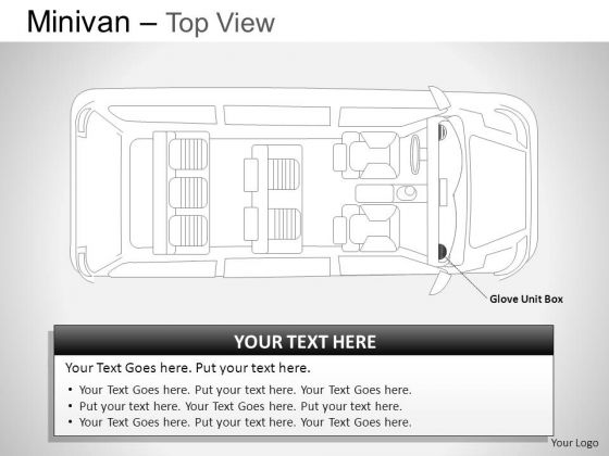 Family Green Minivan Top View PowerPoint Slides And Ppt Diagram Templates