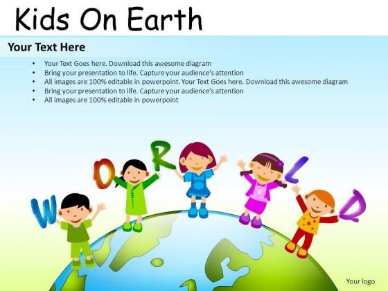 Family Kids On Earth PowerPoint Slides And Ppt Diagram Templates