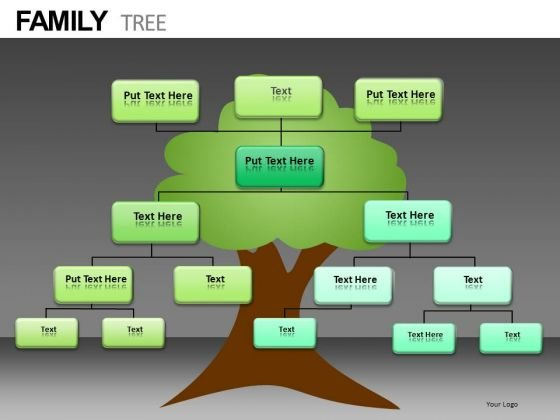 family tree diagram powerpoint slides download powerpoint templates