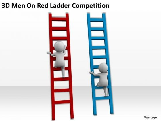 famous_business_people_3d_men_on_red_ladder_competition_powerpoint_slides_2