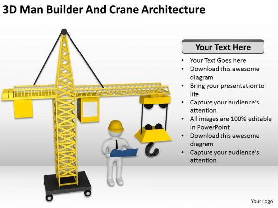 Famous Business People And Crane Architecture PowerPoint Templates Ppt Backgrounds For Slides