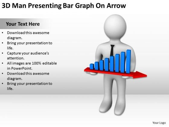 Famous Business People Bar Graph On Arrow PowerPoint Templates Ppt Backgrounds For Slides