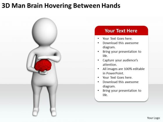 Famous Business People Brain Hovering Between Hands PowerPoint Templates Ppt Backgrounds For Slides