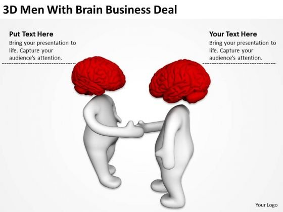 Famous Business People Men With Brain World PowerPoint Templates Deal