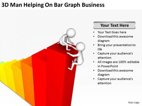 Famous Business People On Bar Graph New PowerPoint Presentation Templates