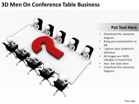 Famous Business People On Conference Table PowerPoint Templates Download Slides