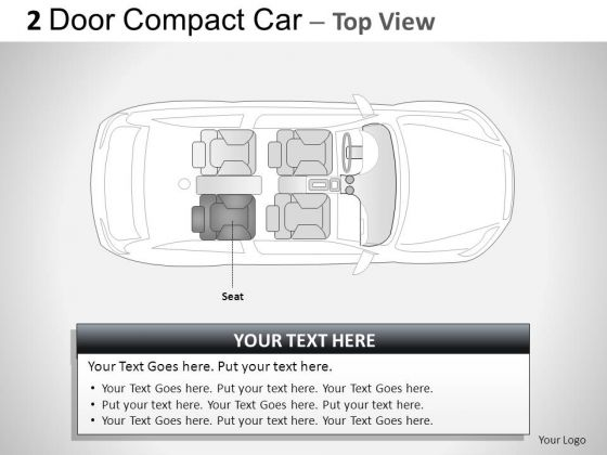 Fashion 2 Door Blue Car Top PowerPoint Slides And Ppt Diagram Templates