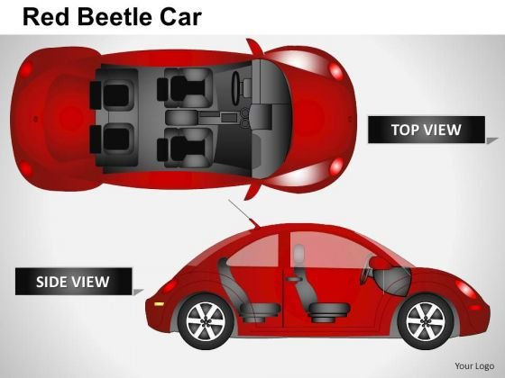 Fast Red Beetle Car PowerPoint Slides And Ppt Diagram Templates