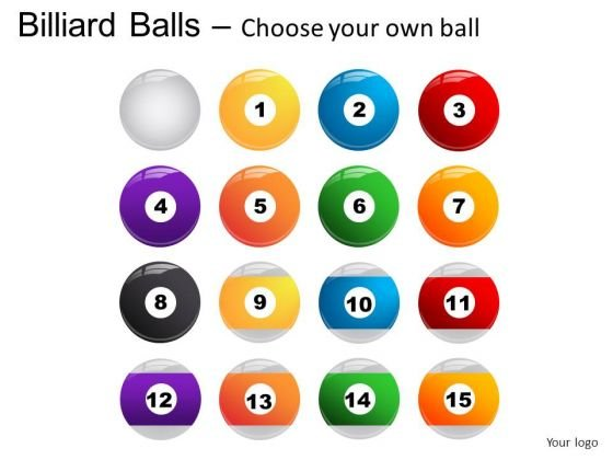 Felt Billiard Balls With Cue PowerPoint Slides And Ppt Diagram Templates