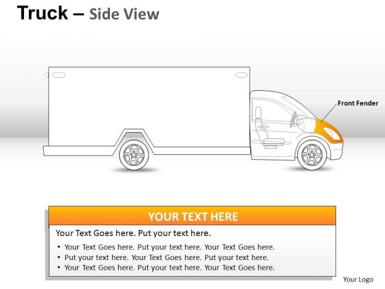 Fender Yellow Truck PowerPoint Slides And Ppt Diagram Templates