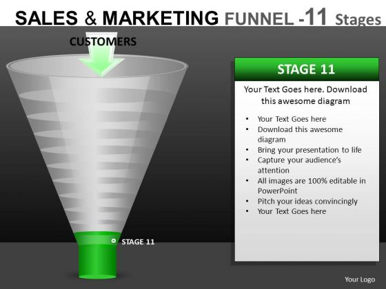 Final Stage Conversion Funnels PowerPoint Templates