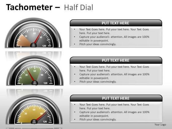 Finance Tachometer Half Dial PowerPoint Slides And Ppt Diagram Templates
