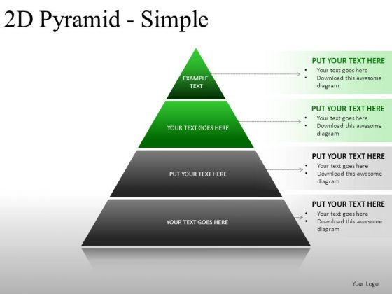 Financial 2d Pyramid Simple PowerPoint Slides And Ppt Diagram Templates