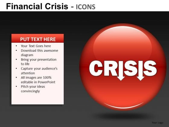 Financial Crisis Icons Ppt 20