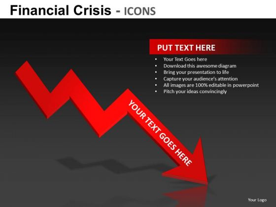 Financial Crisis Icons Ppt 4