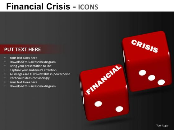 Financial Crisis Risk PowerPoint Ppt Templates
