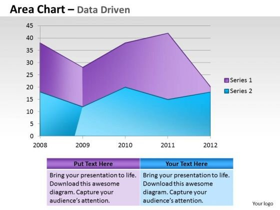 Financial Data Analysis Area Chart For Showing Trends PowerPoint Templates
