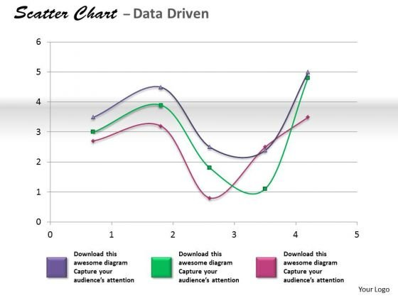 Financial Data Analysis Coordinate With Scatter Chart PowerPoint Templates