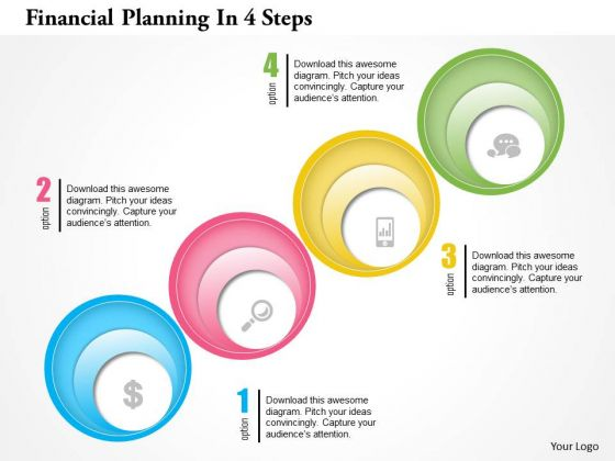 Financial Planning In 4 Steps PowerPoint Template