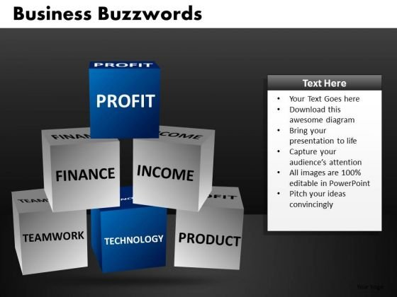 Financial Profit Building Blocks PowerPoint Ppt Templates