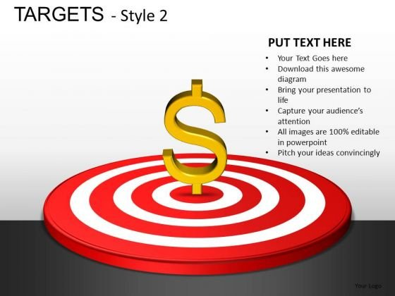 Financial Targets PowerPoint Slides And Ppt Template Diagrams