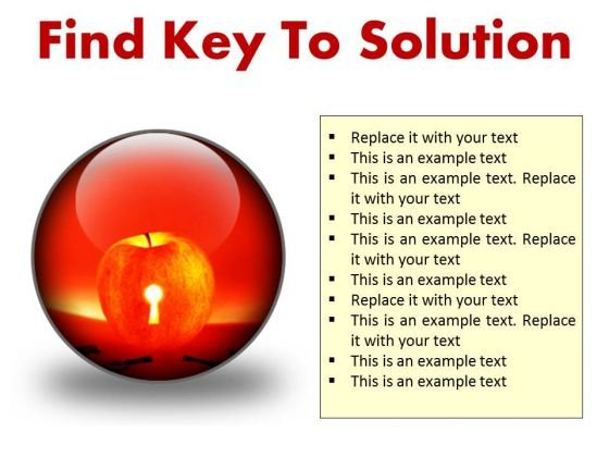 Find Key To Solution Business PowerPoint Presentation Slides C